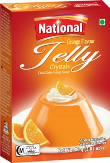National Foods, Jelly Crystal Orange - 80gm