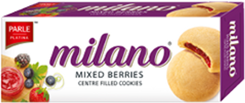 Parle - Milano Mixed Berries Cookies - 60gm
