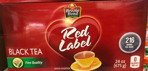 Brooke Bond, Red Label Black Tea -  216 Bags