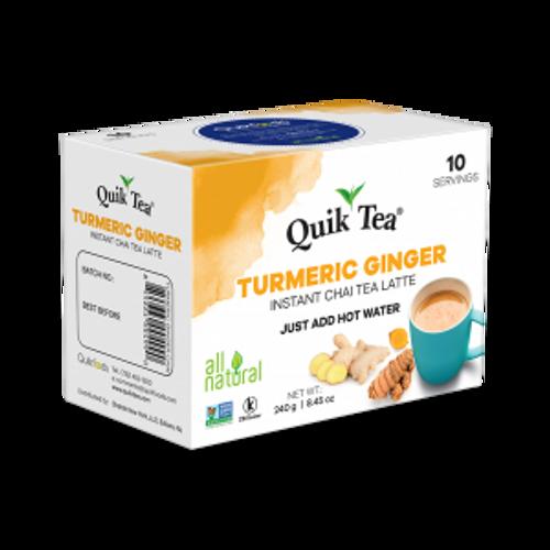 Quick Tea, Turmeric Ginger Chai Tea Latte – 10 Count