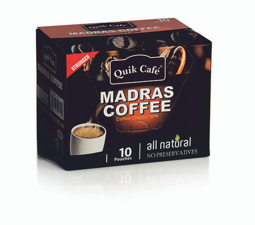Quick Tea, Madras Coffee-Chicory Latte 10 Pack