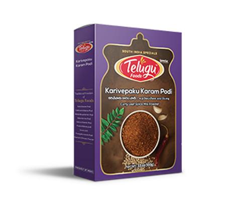 Telugu Foods, Karivepaku Karampodi - 100gm