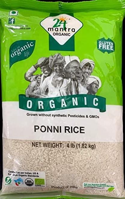 24 Mantra, Organic Ponni Raw Rice - 4 Lbs