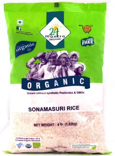 24 Mantra, Organic Sona Masoori Rice - 4 Lbs