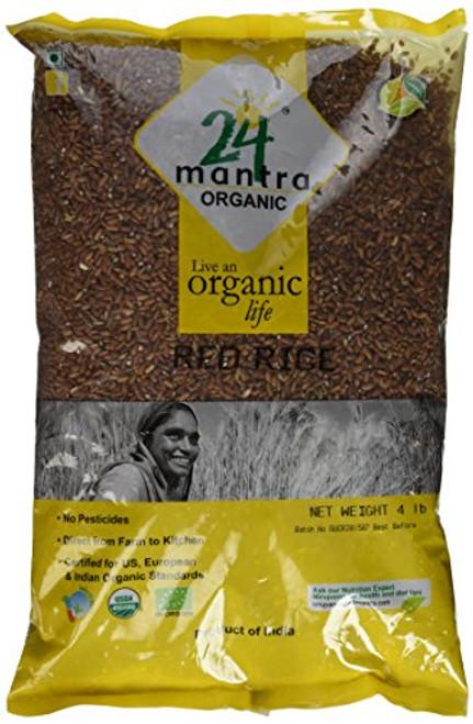 24 Mantra, Organic Red Rice - 4 Lbs