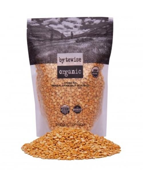 Bytewise Organic, Split Bengal Gram Lentil/ Split Brown Chickpea/ Chana Dal