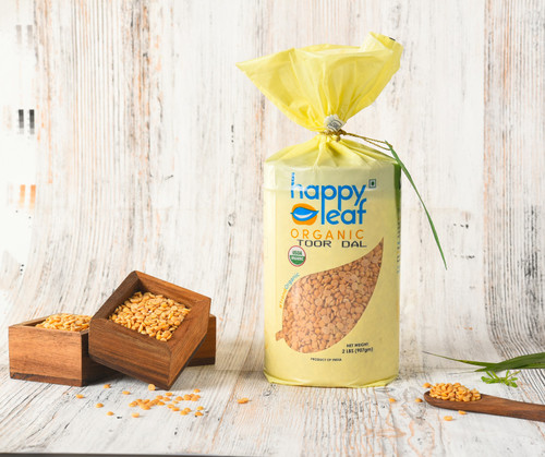 Happy Leaf,  Organic, Toor Dal - 3.5LB