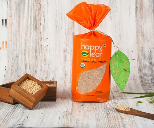 Happy Leaf,  Organic, Urad Dal Mogar- 3.5LB