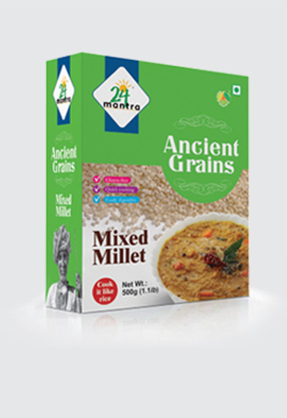 24 Mantra,  Ancient Grains Pearled Mixed Millet -500gm