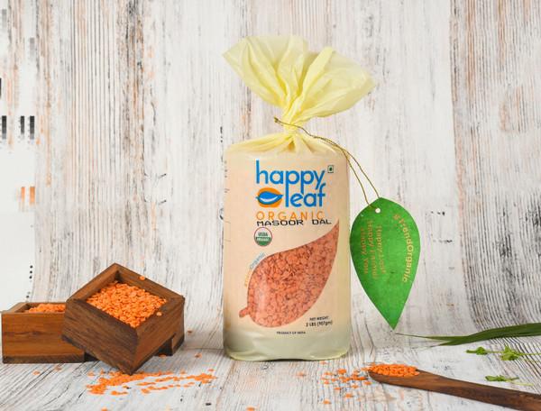 Happy Leaf,  Organic, Masoor Dal  - 3.5LB