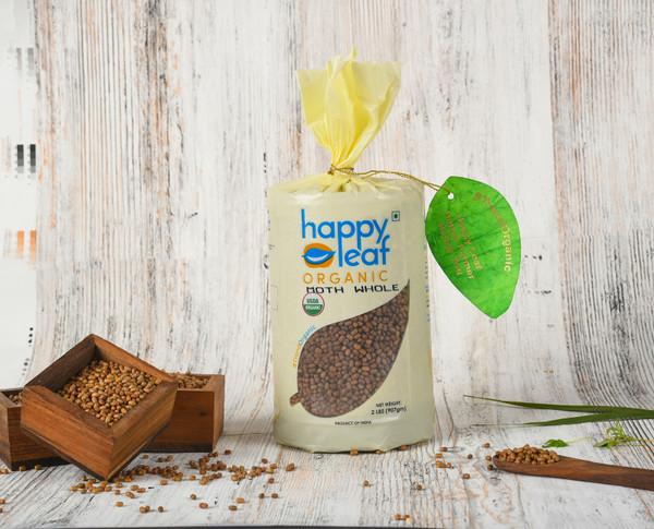 Happy Leaf,  Organic, Moth Whole  - 3.5LB