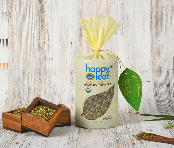 Happy Leaf,  Organic, Moong Split - 3.5LB