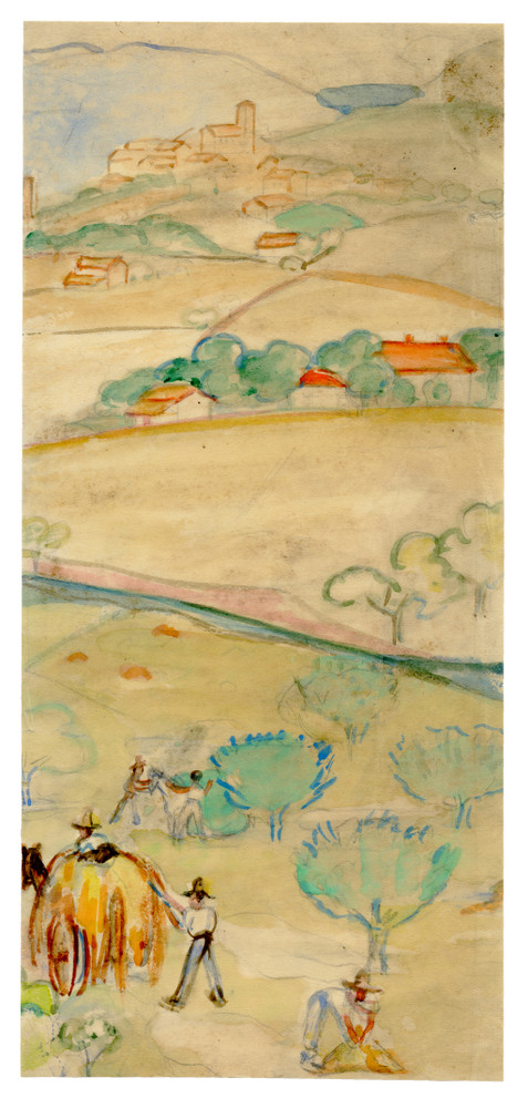 """Provence"", Watercolor on Paper Circa 1930"