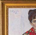 """Portrait of My Wife"", Original Oil Painting by Engels Kozlov Circa 1969"