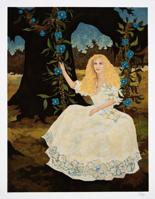 "George Rodrigue's ""Morning Glories Blonde"", Original Serigraph Circa 1989"