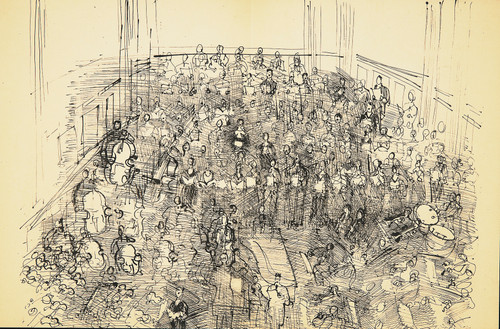 Dufy Lithograph: Orchestra I , 1944 From Monograph of Designs & Sketches