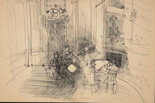 Dufy Lithograph: Chamber Orchestra , 1944 From Monograph of Designs & Sketches