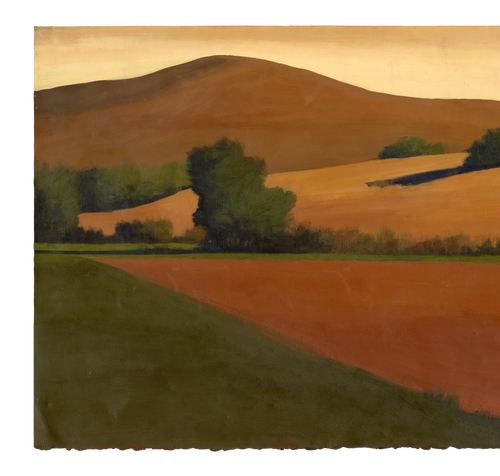 Original Landscape Painting by David Skinner, Acrylic on Arches Paper