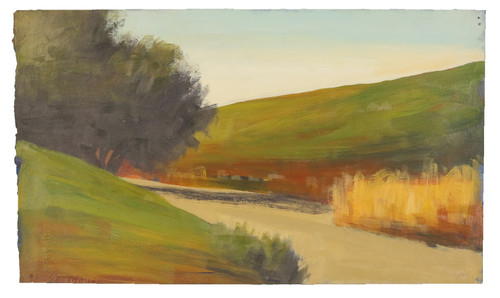 """""""On The Side of The Road"""" Landscape Painting by David Skinner, Acrylic on Arches"""