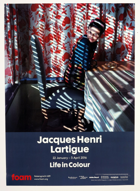 """Life in Colour"" - Jacques Henri Latrigue, Exhibition Poster from FOAM"