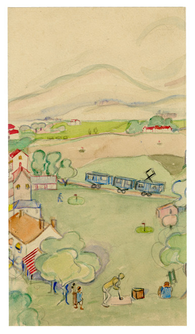 """""""Douce France"""", Watercolor on Paper Circa 1930 (SOLD!)"""