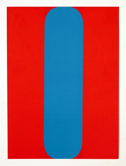 """""""Red and Blue"""" from """"Derriere Le Miroir No.149 - Kelly - 1964"""""""