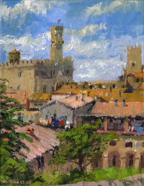 """Palazzo Di Priori"", Original Oil Painting by Brooke Olivares"