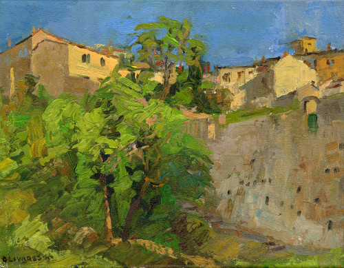 """Volterra's Outer Wall"", Original Oil Painting by Brooke Olivares"