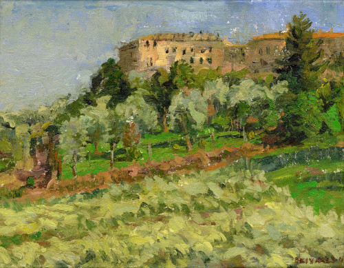 """Stefano's Olive Orchard"", Original Oil Painting by Brooke Olivares"