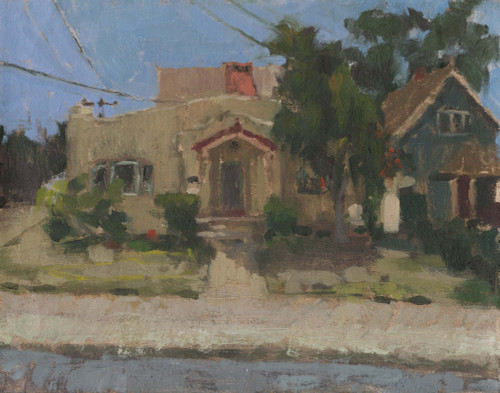"""Neighborhood in San Diego"", Original Oil Painting by Brooke Olivares"
