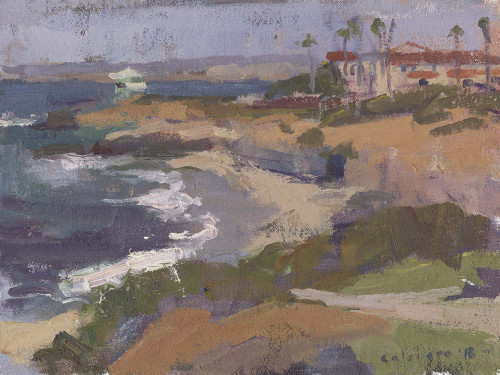 """La Jolla Cove"", Original Oil Painting by Matteo Caloiaro"
