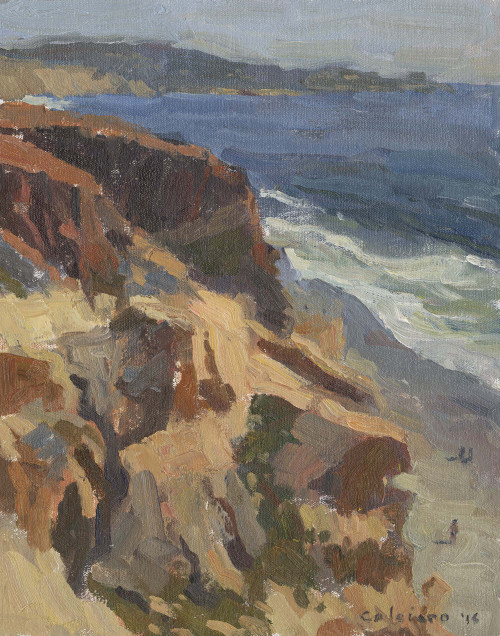 """Torrey Pines Lookout"", Original Oil Painting by Matteo Caloiaro"