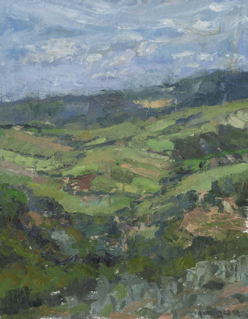 """The View from La Balze"", Original Oil Painting by Brooke Olivares"