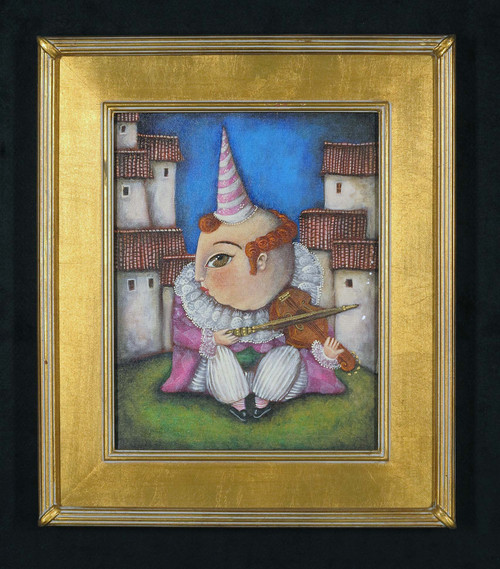 """""""Pepe"""", Original Oil Painting in Gold Frame"""