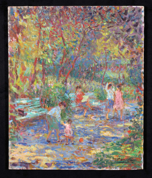 """Springtime in the Park"", Original Oil Painting by Sotiris-Corzo"