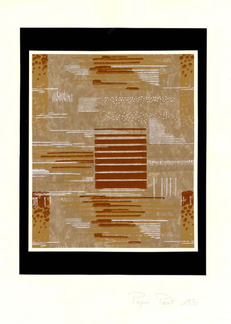 """Design"", Original Gouache on Paper, Circa 1930"