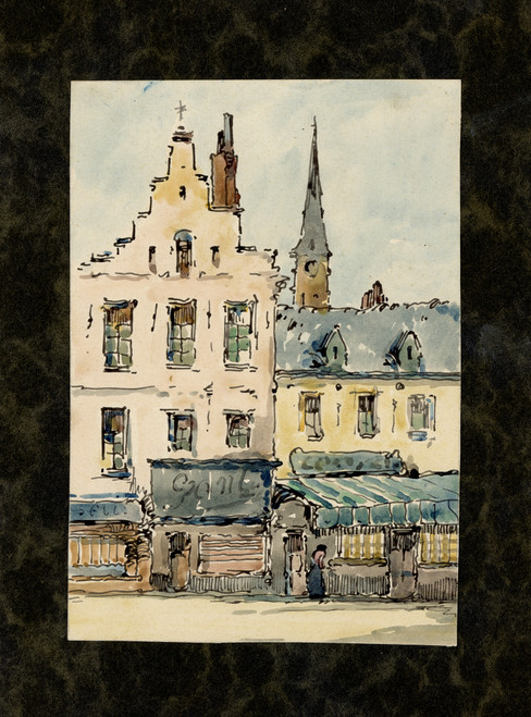 Original Belgian Watercolors Circa 1960s (7)