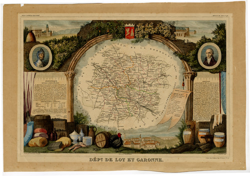 Antique Map From The South Western Region of France (1852)