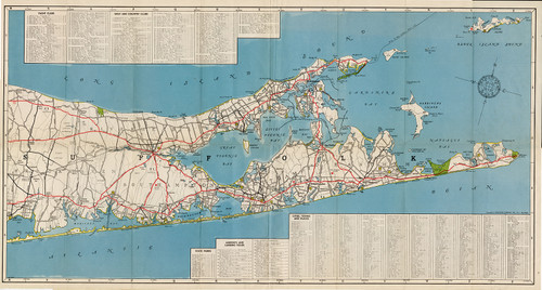 Vintage Map of the Hamptons, Hagstrom Map Company (1946) (SOLD)