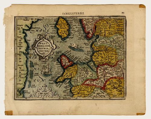 Westmorland Castria, Cestria. 17th Century Map