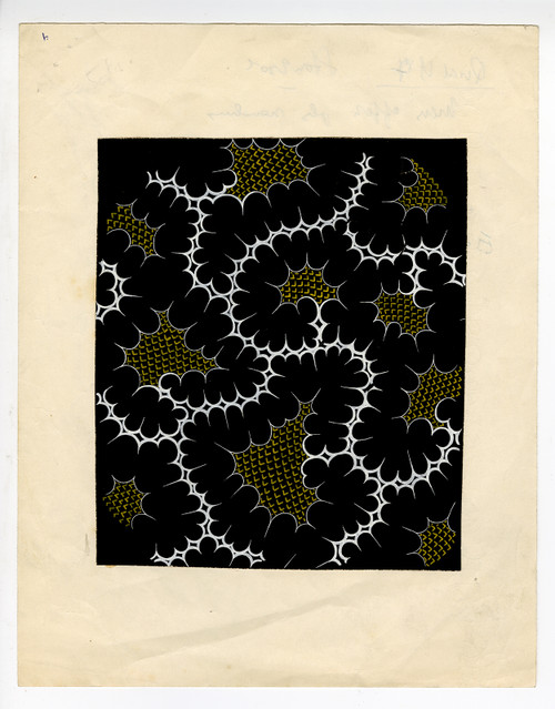 Japanese Textile Design, Gouache on Paper Circa 1960s