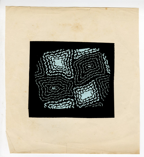 Japanese Textile Design, Gouache on Paper Circa 1960s (2)