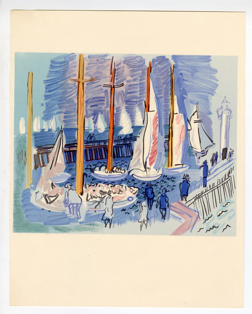 """Regatta"", Original Lithograph by Raoul Dufy (1965)"