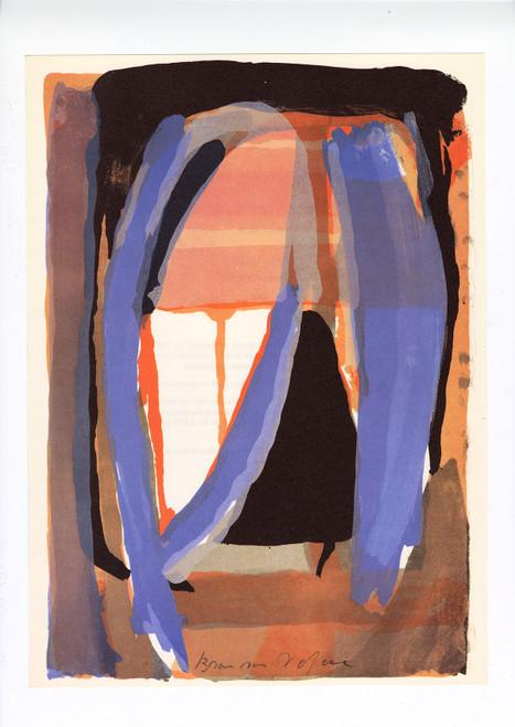 """Original Bram Van Velde Lithograph, """"Derriere le Miroir"""", No. 207 (1974)"""