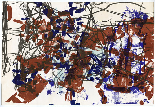 "Original Jean-Paul Riopelle Lithograph From ""Derriere Le Miroir No. 171"