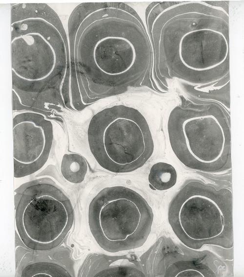 Gray & White Marble Watercolor - Original Modern Art