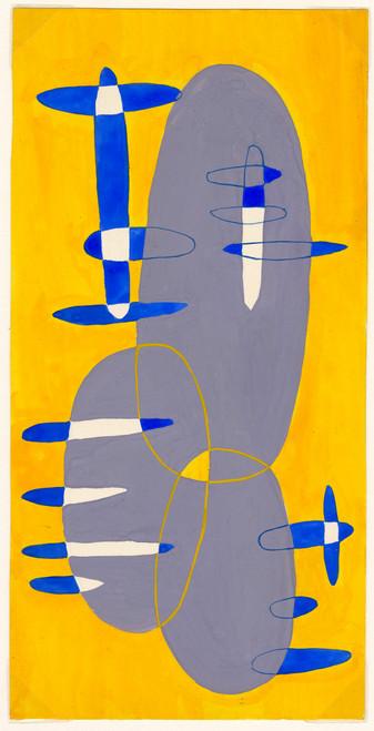 Abstract Ovals - Original Painting, Circa 1950