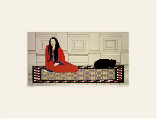 """""""Soliloquy (1972)"""", Vintage Offset Lithograph After Will Barnet"""