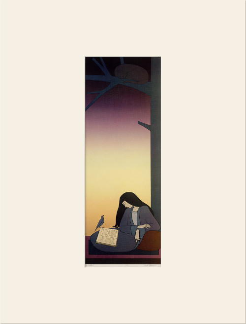 """The Caller (1977)"", Vintage Offset Lithograph After Will Barnet"