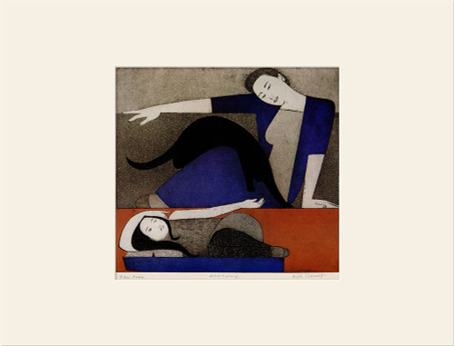 """The Blue Robe (1971)"", Vintage Offset Lithograph After Will Barnet"